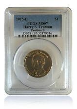 PCGS MS67 2015-P Harry S Truman Presidential Dollar Position B