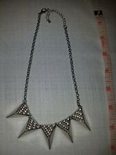 Charlotte Russe Goth silver tone necklace