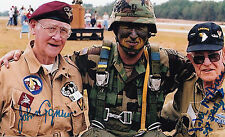 Jack Agnew, Jake McNiece FILTHY 13 101st AB, 506th PIR D-Day COMBO SIGNED PHOTO