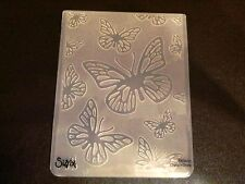 Sizzix Large Embossing Folder BUTTERFLY BUTTERFLIES fits Cuttlebug 4.5x5.75in
