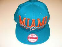 New Era Hat Cap NFL Football Miami Dolphins Lateral Snapback Hat Adjustable OSFM