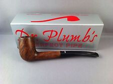 SMOKING PIPE Dr Plumb City - 5 Matt Brown Straight Stem Pipe curved mouthpiece