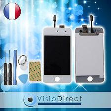 Ecran complet pour iPod touch 4 blanc vitre tactile +ecran LCD sur chassis+outil