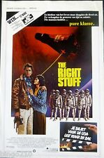 THE RIGHT STUFF  ORIGINAL 1983 BELGIUM POSTER SAM SHEPARD CHUCK YEAGER NASA