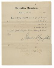 James A. Garfield - Document Signed as President (Exceptionally Rare)