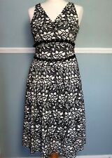 Marks And Spencer Collection Dress Size 10 Petite Black White Lace Dress