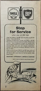 Shell BP Stop for Service When You See This Sign Vintage Advertisement 1952