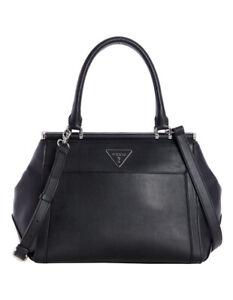 Guess Handbag Double Handle Satchel Black