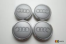NEW GENUINE AUDI ALLOY WHEEL CENTER HUB CAP LOGO SET OF 4 69MM 4B0601170A 7ZJ