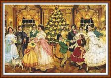 """""""la bola de Navidad"""" cuadro de punto de cruz (22""""x15""""), detallados/Navidad/Victoriana Nuevo"""