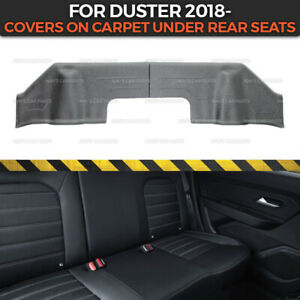 Protective Cover on Carpet Under Rear Seats for Dacia Duster 2018- moldings