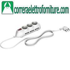 Multipresa elettrica ciabatta BTICINO schuko universale con interruttore 3699DB