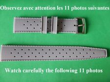 22 mm INTERCHANGEABLE BRACELET GRIS TYPE TROPIC IDÉAL COMPRESSOR PLONGÉE DIVER
