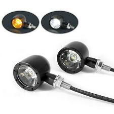 Motorbike Driving Lights DRL and Indicators BLACK CNC Billet Ally Integrated LED