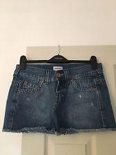 Topshop Moto Distressed Mini Skirt Size 10