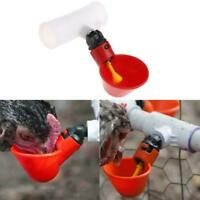 4PC Poultry Drinkers Hen Water Drinking Cups Chicken Waterer PPS Fittings D4E8