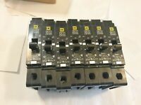LOT OF SEVEN (7) NEW SQUARE D EJB14020 CIRCUIT BREAKERS 20A 277V BEST PRICE