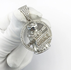 """Sterling Silver """"Don't Be A Waste Man"""" Pendant set with Cubic Zirconia***"""