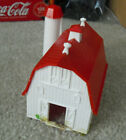 Vintage HO Scale Plasticville White and Red Barn with Silo