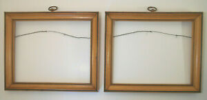 """Antique Wood picture painting Frame set tiered w blk accent-8"""" x 10"""" pic area"""