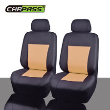 Universal 2 Front Car Seat Covers Black Beige Waterproof Oxford cloth Airbag