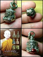 Lp Leng Powerful Life Wealth Safety Protection Rahu Om Moon Be2559 Thai Amulet