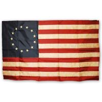 Morigins American Betsy Ross Flag Tea Stained 13 Star 3x5 FT Nylon Antique Look