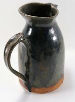 "Vintage Signed Drip Glaze Handcrafted BNW ? 5178 Studio Stoneware 10"" Pitcher"