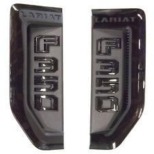 NEW OEM 17-19 Ford F350 Super Duty Lariat Sport Fender Emblem LH RH Set Black