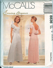 McCalls 8836 Bridesmaid Formal Gown Dress Wedding pattern UNCUT FF 10,12,14