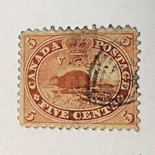 CANADA - #15 - 5c BEAVER   STAMP (1859) USED