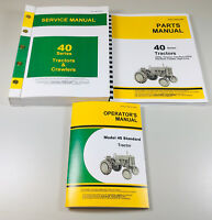 SERVICE PARTS OPERATORS MANUAL SET FOR JOHN DEERE 40 TRACTOR REPAIR SHOP BOOK