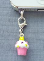 Cupcake cell phone Charm Anti Dust proof Plug Ear Cap cover jack C49