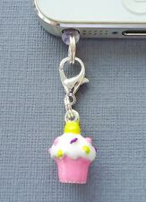Cupcake cell phone Charm Anti Dust proof Plug Ear Cap cover jack For iPhone C49