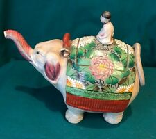 Vintage Elephant and Rider Teapot
