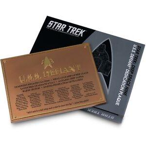 Star Trek Deep Space Nine USS Defiant Dedication Plaque DS9 Eaglemoss - In Stock