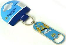 Manchester City FC Metall Schlüsselanhänger Flaschenöffner (BB)