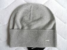 DIESEL Cashmere & Wool Lux Light Grey Beanie Hat Toque Womens Femme Tags ITALY