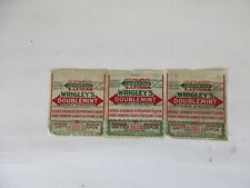 Vintage Wrigleys Doublemint Gum Wrappers with Coupons Set of 3