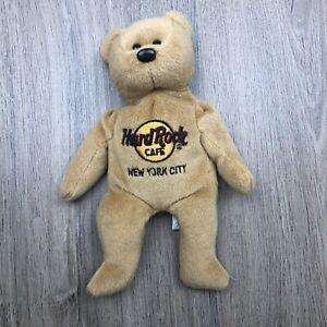 Hard Rock Cafe New York City Beanie Bear 20cm Tall EUC