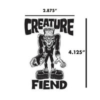 "Creature Franken Fiend Frankenstein Skateboard Monster Sticker Decal 4"" x 2.875"""
