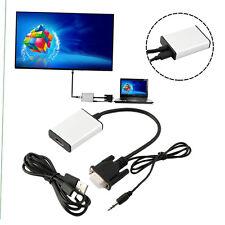 Salida VGA a HDMI Adaptador 1080P HD y de audio USB HDTV Video Cable Converter ADC