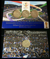 JAPAN SET 3 COINS 500 YEN FIFA WORLD CUP JAPAN KOREA 2002 COMM. UNC COIN