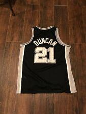 Vintage San Antonio Spurs Tim Duncan Nike Basketball Jersey Size Xl Swingman