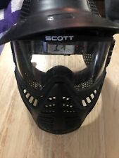 Nr-Scott Usa Full-Face Airsoft / Paintball Mask w/ Goggles w/ Removable Visor