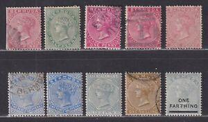 Bermuda SG 1//30 Scott 1//26 1865-1901 Queen Victoria Issues SCV $75.05