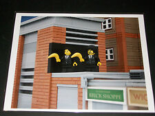 BRICKSY - LEGO Banksy - Banana Pulp Fiction - RARE SIGNED ART PRINT