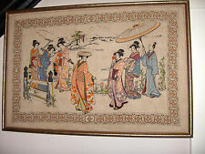 Beautyful Lady Handmade Silk Embroidery art Painting Oriental Art