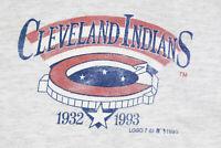 Vintage 90s Cleveland Indians MLB Baseball Jersey 1993 Gray Mens XL Throwback