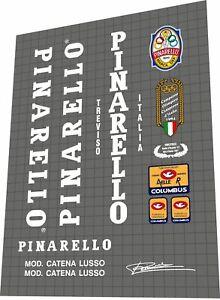Pinarelllo Mod Catena lusso 1985 Decal Set